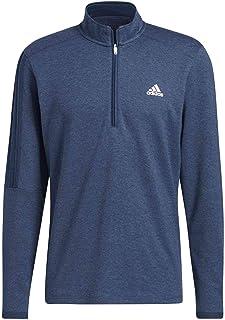adidas Golf Mens 2021 Three Stripe 1/4 Zip Left Chest Logo Stretch Sweater