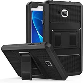 MoKo Samsung Galaxy Tab A 7.0 Case - [Heavy Duty] Full Body Rugged Cover with Built-in Screen Protector for Samsung Galaxy Tab A 7.0 Inch Tablet 2016 Release (SM-T280 / SM-T285 Version ONLY), Black