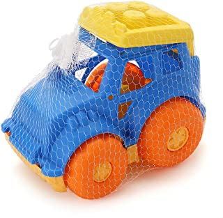 LotFancy Dump Truck Toy for Kids, Sand Trucks for Improving Gross Motor, Outdoor Sandbox Vehicle Toys for Toddlers, BPA Free, Phthalates Free, Yellow / Blue / Orange, 9 Inch