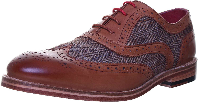Justin Reece Truman herr läder Matt skor skor skor (12 UK, Läder)  blixtnedslag