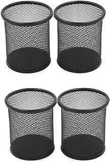 Cosanter 1/× Stiftehalter Stiftest/änder Feder Pot B/üroszubeh/ör Feder Bleistift Pot Halter Organizer Metal Wire Mesh Schwarz