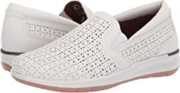 White Perforated Leather