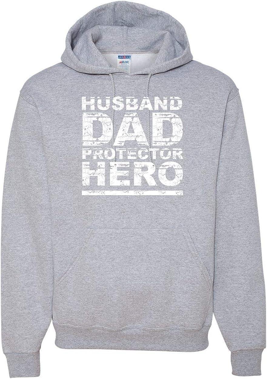 Husband Dad Protector Hero Idea | Mens Fashion Hooded Sweatshirt