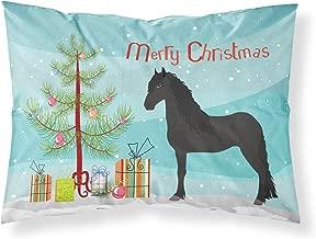 Caroline's TreasuresFriesian Horse Christmas Pillowcase, Standard, Multicolor