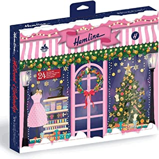 Hemline Sewing Accessories Advent Calendar, 195x220x130, Traditional Christmas 2020