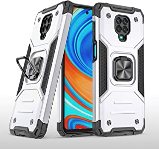 maatjaari Cover Case for Redmi Note 9 Pro/9S,Military-Grade Armor Mobile Phone Case,Anti-Drop,Equipped with 360-Degree Rot...