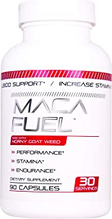 Maca Fuel Male Performance Capsules, 90 Count - Supports Stamina and Optimizes Healthy Test Levels & Performance with Epim...