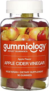 Gummiology Adult Apple Cider Vinegar Gummies, Natural Apple Flavor, 90 Vegetarian Gummies