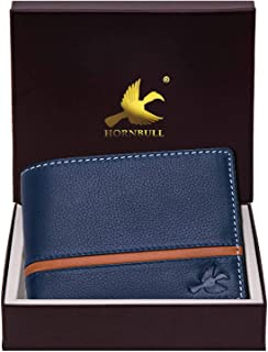 Hornbull Denial Navy Mens Leather Wallet – Premium Quality Leather Wallet for Mens & RFID Blocking Genuine Leather Mens Wa...