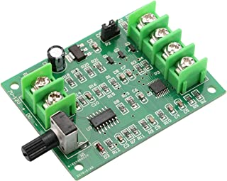 DC Brushless Motor Controller, Yeeco DC 7-12V Brushless DC Motor Speed Regulator Control Module High Power BLDC Speed Motor Controller Driver Board with Potentiometer Knob