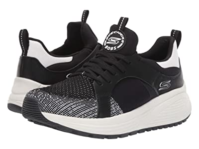 BOBS from SKECHERS Bobs Sparrow 2.0 Metro Daisy (Black/White) Women