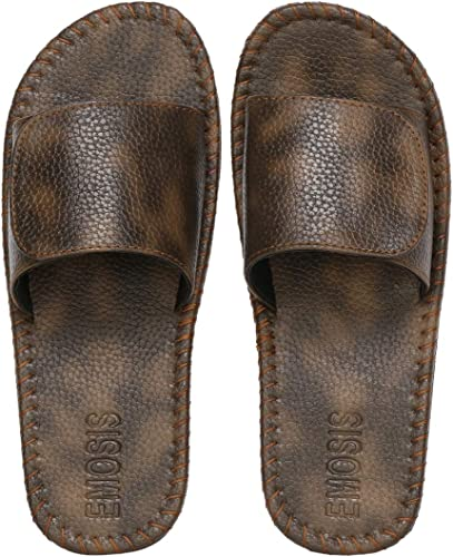 Men s Faux Leather Slipper Flat Chappal cum Thong Sandal For Daily Use Outdoor Indoor Formal Office Home Ethnic Casual Wear