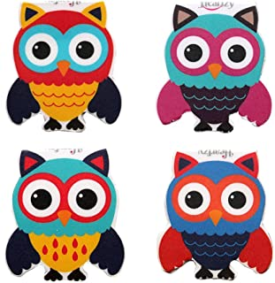 Heartzy Cute Owl Magnetic Bookmark -Combo of 4