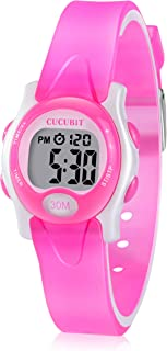 CUCUBIT Music Potty Training Watch Reminder Water Resistant Toddler Toilet Training Aid Potty Timer(Pnk)