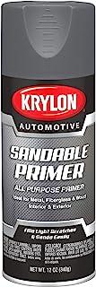 Krylon Automotive Sandable Primer, Gray, 12 oz, Model Number: KA8612007