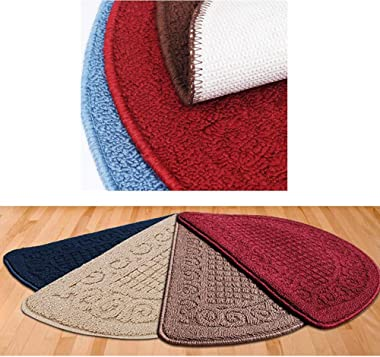 Retro Household Outdoor/Indoor Doormats Antiskid Entrance Mat Bathroom Carpet Semicircle, Coffee