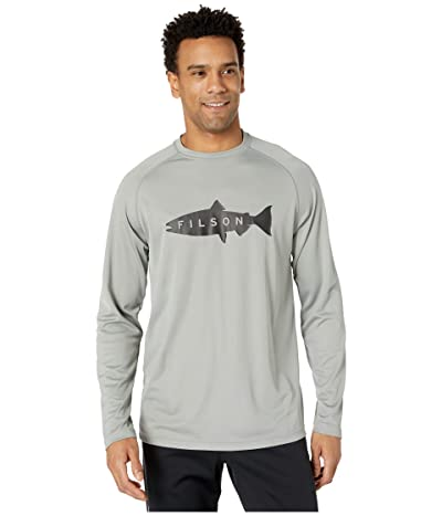 Filson Long Sleeve Barrier T-Shirt (Storm Gray) Men