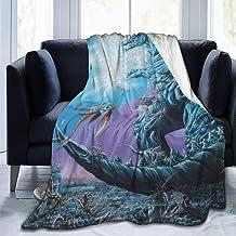 Eileen Powell Silla para Clima frío Coche, Super Soft Monsters Godzilla Save The Earth Fanart Throw Decorativo, Grande 80 * 60in