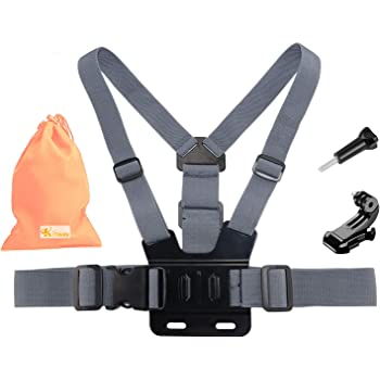 Navitech Adjustable Shoulder Body Strap Harness Mount Holder Compatible with The Rollei Actioncam 560 Touch