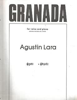 GRANADA - [Sheet Music] FOR VOICE AND PIANO (SPANISH AND ENGLISH LYRICS)