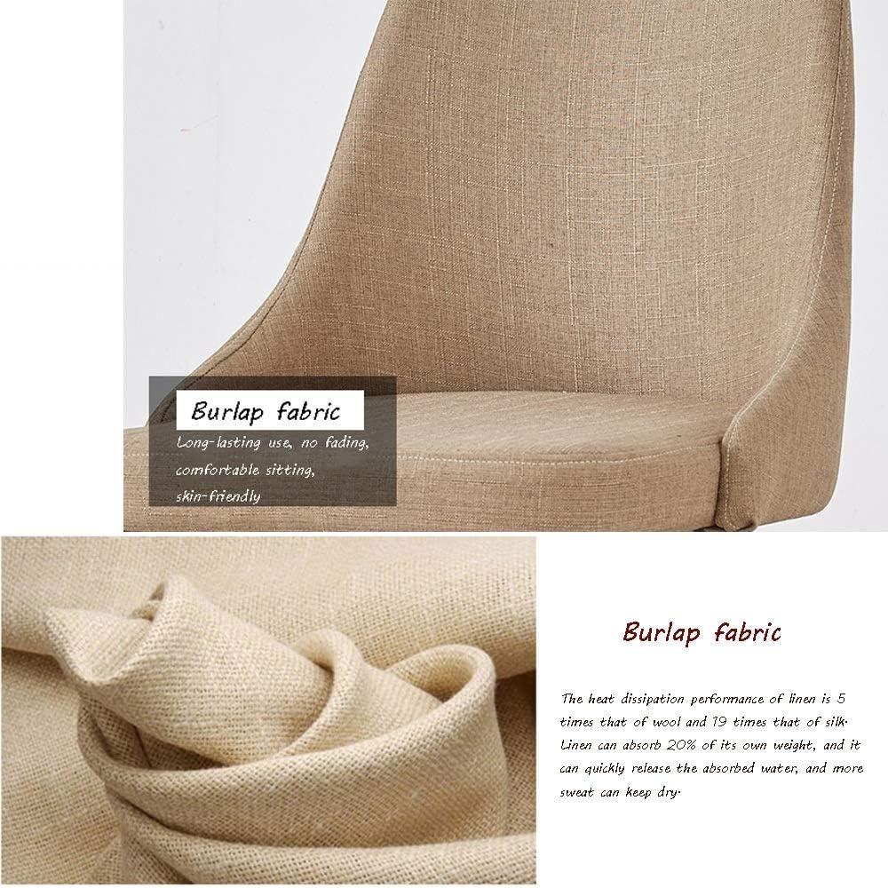 Chaise Chaises de salle à manger,Fauteuil Ergonomique Fauteuil en tissu en coton et lin Chaise en bois massif Chaise de style nordique pour restaurant (Color : Green) Green