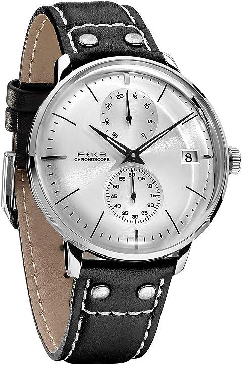 Orologio feice da polso impermeabile cinturino in pelle fm212 mechanical watch