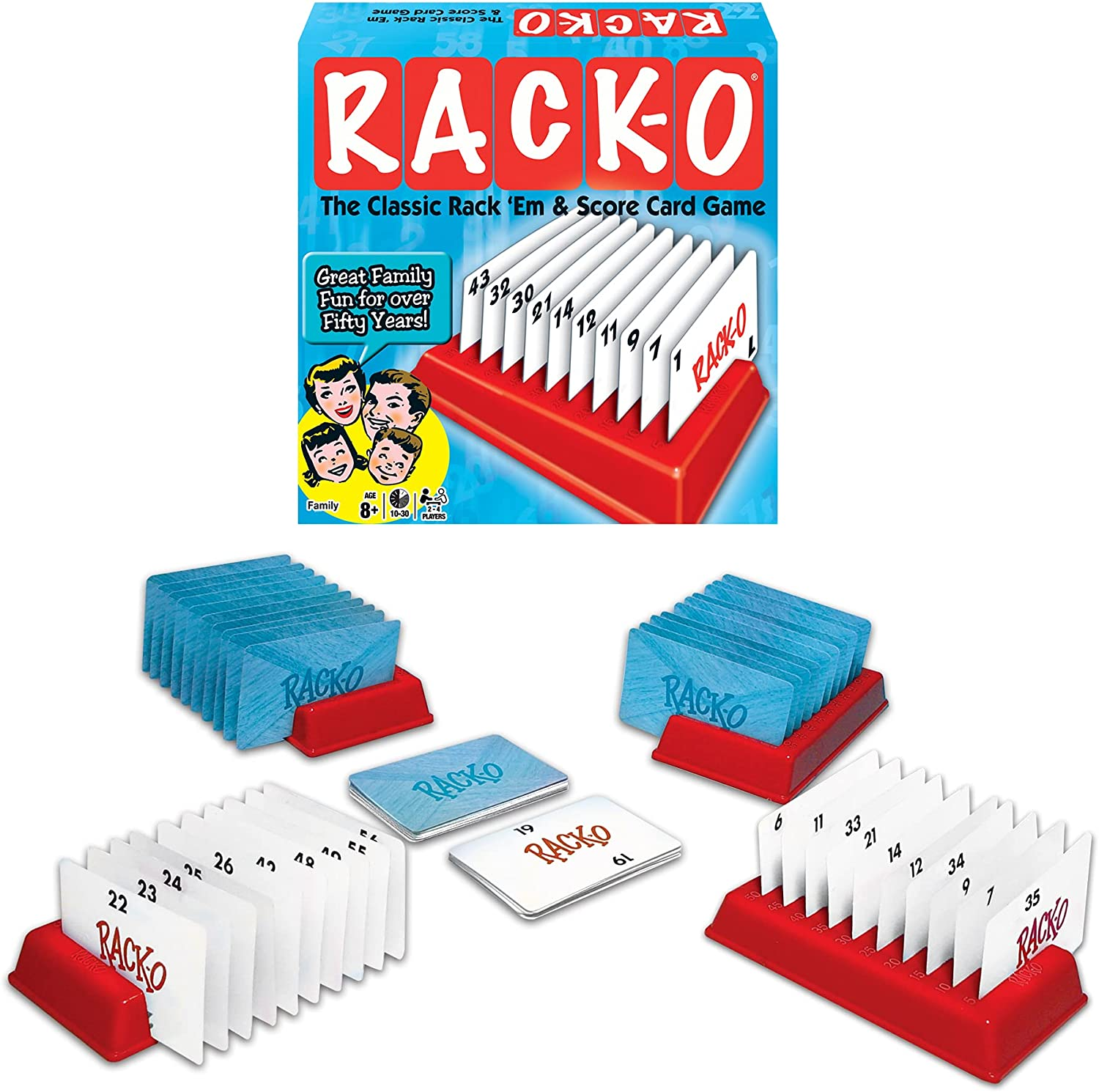 Winning Max 48% OFF Moves RACK-O Retro Game Challenge the lowest price package Card