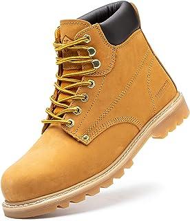 أحذية عمل فولاذية غير قابلة للتدمير للرجال أحذية رجالية خفيفة الوزن قابلة للتنفس أحذية عمل للرجال مع نعل مطاطي مركب