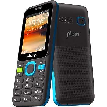 Plum 3G GSM Unlocked Cell Phone with Whatsapp Facebook Dedicated Keys ATT Tmobile Metro Cricket and More, Blue, Model: A105BLU