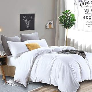 RUIKASI Deckenbezug 220x240 Weiß, Weiche Mikrofaser Bettwäsche, Anti Milben und Allergiker Bettbezug 220x240 cm