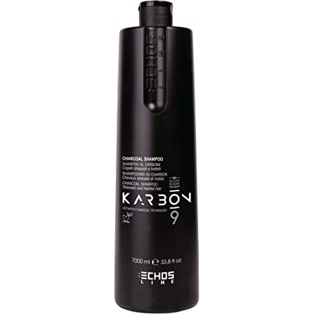 Echosline Karbon 9 Charcoal Shampoo Al Carbone Per Capelli Stressati - 1000 ml