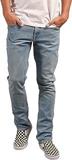 Volcom Mens A1931501 Vorta Slim Fit Stretch Denim Jean Jeans