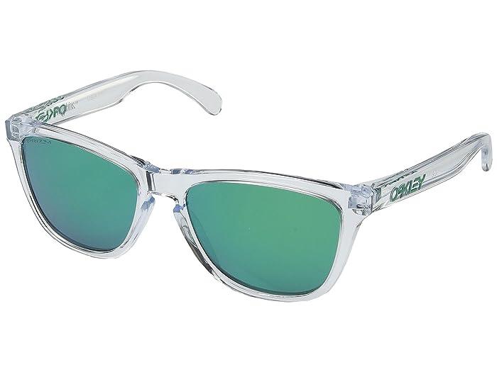 Oakley Frogskins (Crystal Clear w/ Prizm Jade) Sport Sunglasses