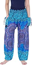 Lannaclothesdesign Women's Smocked Waist Printed Loose Fit Yoga Harem Pants