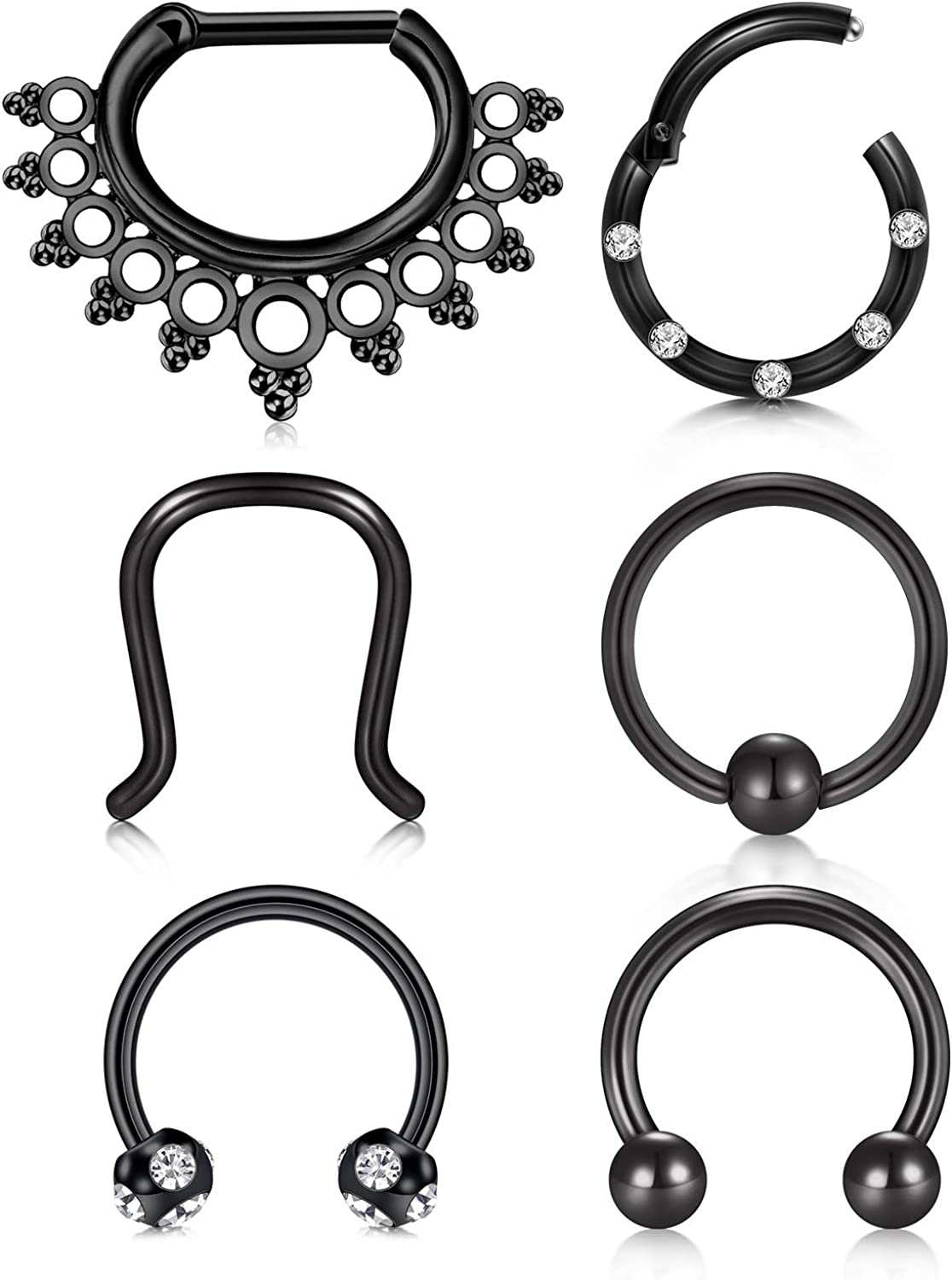 LAURITAMI 16G Stainless Steel Septum Cartilage Ring Nose Brand new Da Hoop Miami Mall