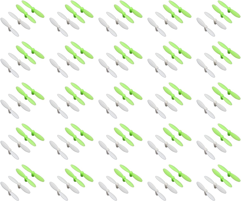 25 x Quantity of Estes Proto X SLT Nano Propeller Blades Grün & Weiß Propellers Props Prop Set - FAST FROM Orlando, Florida USA
