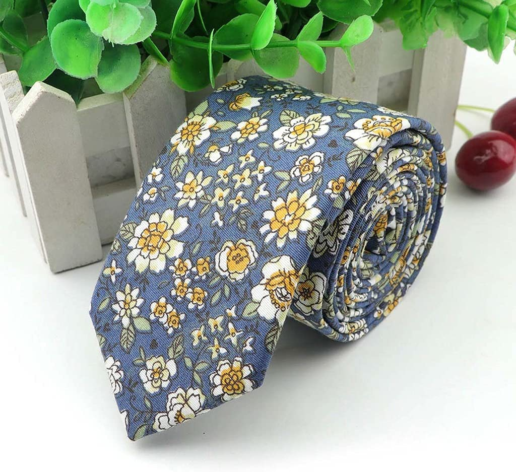 SPNEC LQGSYT Floral Soft Texture Tie Cotton for Men and Women Casual Dress Handmade Wedding Tie Accessory Gift