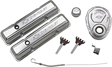 Proform 141-001 Chrome Engine Dress-Up Kit with Embossed Chevrolet/Bowtie Logo for Small Block Chevy