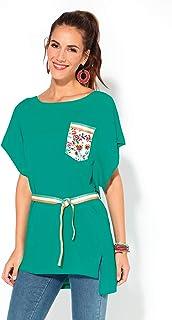bc28bd287 VENCA Camiseta Cinta grogen a Modo de cinturón y Bolsillo de plastrón  estamp - 025597