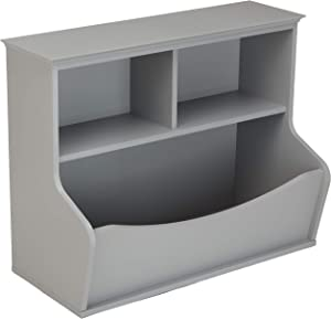 AmazonBasics Children's Multi-Functional Bookcase and Toy Storage Bin - Grey