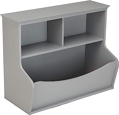Amazon Basics Children's Multi-Functional Bookcase and Toy Storage Bin - Grey