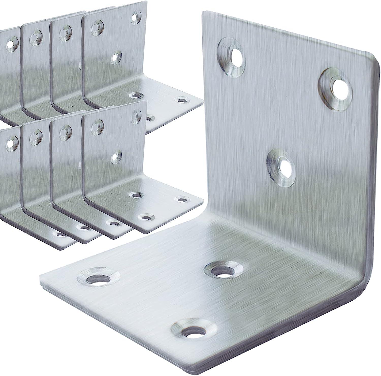 20Pcs Large-scale sale Stainless Steel Angle Bracket Duty Brack L trend rank 2