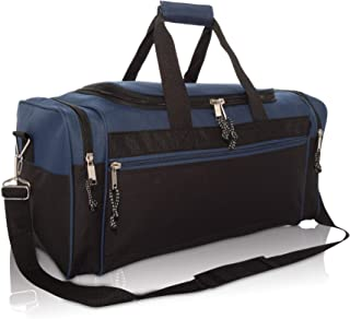 "21"" Blank Sports Duffle Bag Gym Bag Travel Duffel with Adjustable Strap in Navy Blue"
