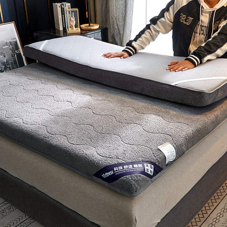 Thickened Lambskin Mattress,Foldable Winter Warm Tatami Mattress,for Hotel Bedroom Study-A 90x200cm(35x79inch)