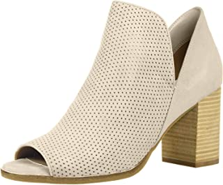 Cole Haan Women's Shiloh Open Toe Bootie (75MM) Ankle Boot, Stone Perforated Suede, 5 B US