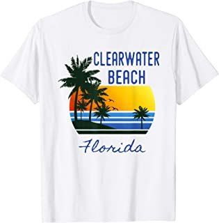 Clearwater Beach Florida Beach Sunset Graphic Design Tshirt