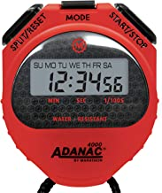 Marathon ADANAC Professional Grade Digital Comfort Grip Stopwatch Timer with Extra Large LCD Display and Buttons, Water Resistant, Two Year Warranty, Battery Included