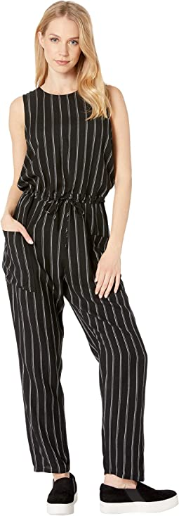 Pop Out Striped Jumpsuit
