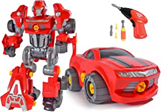 CoolToys Custom 3 in 1 Take-A-Part Robot Toy Playset ? Includes Electric Play Drill, Screwdriver and 42 Modification Pieces
