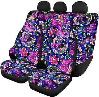 FKELYI Conjunto completo de 3 peças de acessórios para assento interno de automóvel, capas de banco dianteiro de carro com...